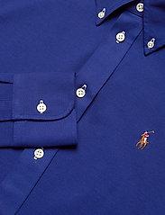Polo Ralph Lauren - Knit Cotton Oxford Shirt - langærmede skjorter - sporting royal - 3