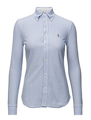 Striped Knit Oxford Shirt - HARBOR ISLAND BLUE