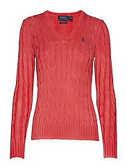Cotton V-Neck Cable Sweater - CORALLO