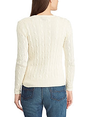 Polo Ralph Lauren - Cable-Knit V-Neck Sweater - jumpers - cream - 3
