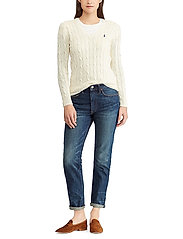 Polo Ralph Lauren - Cable-Knit V-Neck Sweater - trøjer - cream - 4