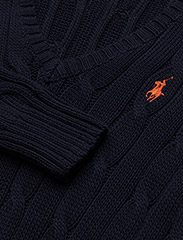 Polo Ralph Lauren - Cable-Knit V-Neck Sweater - trøjer - hunter navy - 6
