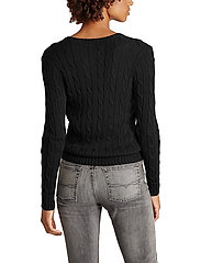 Polo Ralph Lauren - Cable-Knit V-Neck Sweater - trøjer - polo black/white - 3