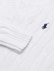 Polo Ralph Lauren - Cable-Knit V-Neck Sweater - jumpers - white - 2