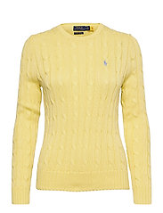 Cable-Knit Cotton Sweater - BRISTOL YELLOW