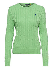 Cable-Knit Cotton Sweater - BUD GREEN