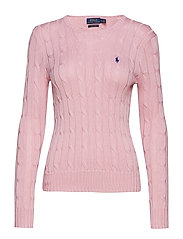 Cable-Knit Cotton Sweater - CARMEL PINK