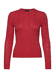 Cable-Knit Cotton Sweater - CORAL