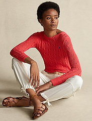 Polo Ralph Lauren - Cable-Knit Cotton Sweater - trøjer - coral - 0