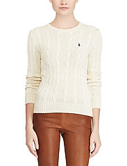 Polo Ralph Lauren - Cable-Knit Cotton Sweater - trøjer - cream - 0