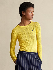 Polo Ralph Lauren - Cable-Knit Cotton Sweater - trøjer - elite yellow - 0