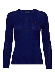 Cable-Knit Cotton Sweater - FALL ROYAL
