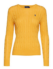 Cable-Knit Crewneck Sweater - GOLD