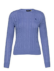 Cable-Knit Cotton Sweater - HARBOR ISLAND BLU