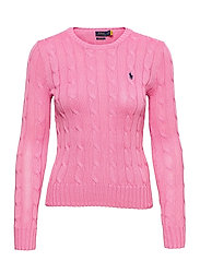 Cable-Knit Cotton Sweater - HARBOR PINK