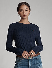 Polo Ralph Lauren - Cable-Knit Cotton Sweater - trøjer - hunter navy - 6