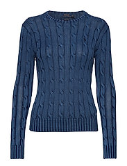 Cable-Knit Cotton Sweater - INDIGO