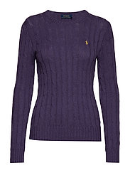 Cable-Knit Cotton Sweater - INKBERRY HEATHER