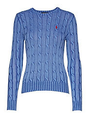 Cable-Knit Cotton Sweater - MAIDSTONE BLUE
