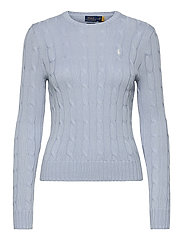 Cable-Knit Cotton Sweater - PALE BLUE