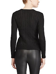 Polo Ralph Lauren - Cable-Knit Cotton Sweater - trøjer - polo black/white - 4
