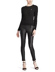 Polo Ralph Lauren - Cable-Knit Cotton Sweater - trøjer - polo black/white - 5