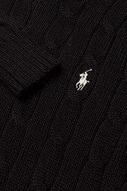 Polo Ralph Lauren - Cable-Knit Cotton Sweater - trøjer - polo black/white - 3