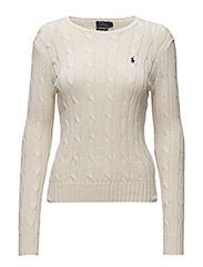 Cable-Knit Crewneck Sweater - CREAM