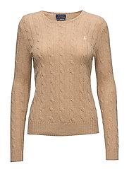 Wool-Cashmere Crewneck Sweater - CAMEL MELANGE