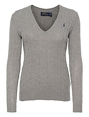 Cable Wool-Cashmere Sweater - FAWN GREY HEATH
