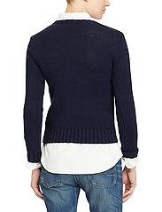 Polo Ralph Lauren - Flag Cotton Crewneck Sweater - jumpers - hunter navy mul - 4