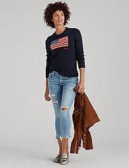 Polo Ralph Lauren - Flag Cotton Crewneck Sweater - jumpers - hunter navy mul - 6
