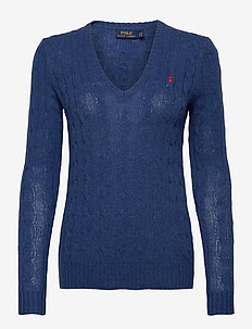 Cable Wool-Cashmere Sweater - jumpers - aged royal hthr