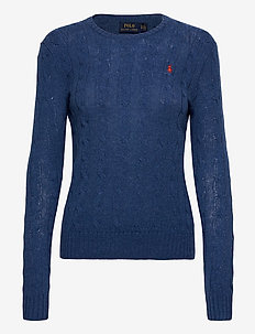 Cable Wool-Cashmere Sweater - truien - aged royal hthr