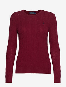 Cable Wool-Cashmere Sweater - BURGUNDY