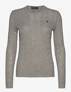Cable Wool-Cashmere Sweater - neulepuserot - fawn grey heather
