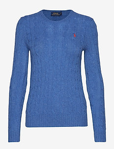 Cable Wool-Cashmere Sweater - GENTIAN BLUE HEAT