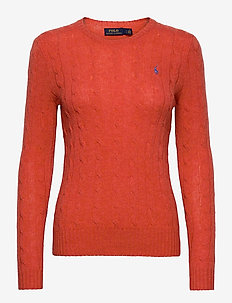 Cable Wool-Cashmere Sweater - truien - orangey red