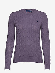 Cable Wool-Cashmere Sweater - PURPLE SMOKE HEAT