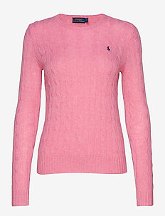 Cable Wool-Cashmere Sweater - WINE ROSE HEATHER