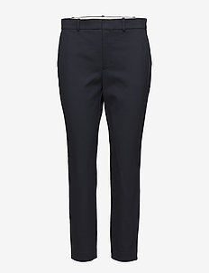 High-Rise Twill Straight Pant - AVIATOR NAVY