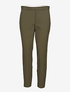High-Rise Twill Straight Pant - DEFENDER GREEN