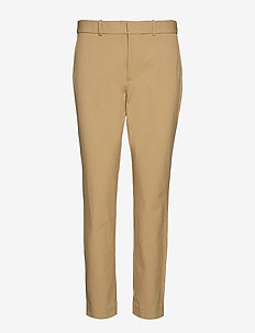 High-Rise Twill Straight Pant - LUXURY TAN