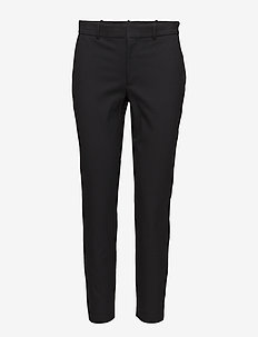 High-Rise Twill Straight Pant - POLO BLACK
