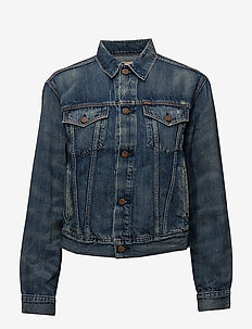 Denim Trucker Jacket - DARK INDIGO