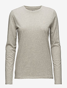 Cotton Long-Sleeve T-Shirt - LT SPORT HEATHER