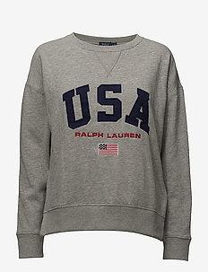 USA Fleece Sweatshirt - ANDOVER HEATHER