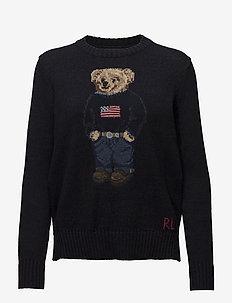 Polo Bear Cotton-Linen Sweater - jumpers - navy multi