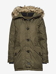 Hooded Down Jacket - COMPANY OLIVE