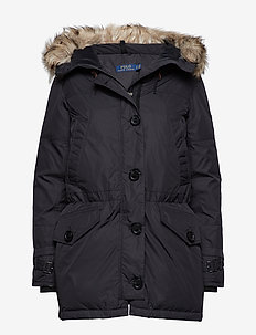 Hooded Down Jacket - POLO BLACK